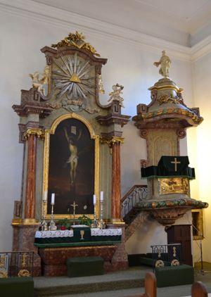 Interiér Malého kostola, Foto: Tatiana Horvátová