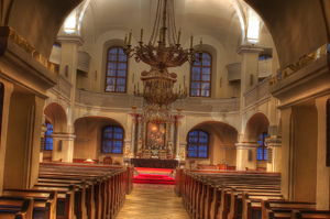 Interiér Veľkého kostola, Foto: Marek Ševc
