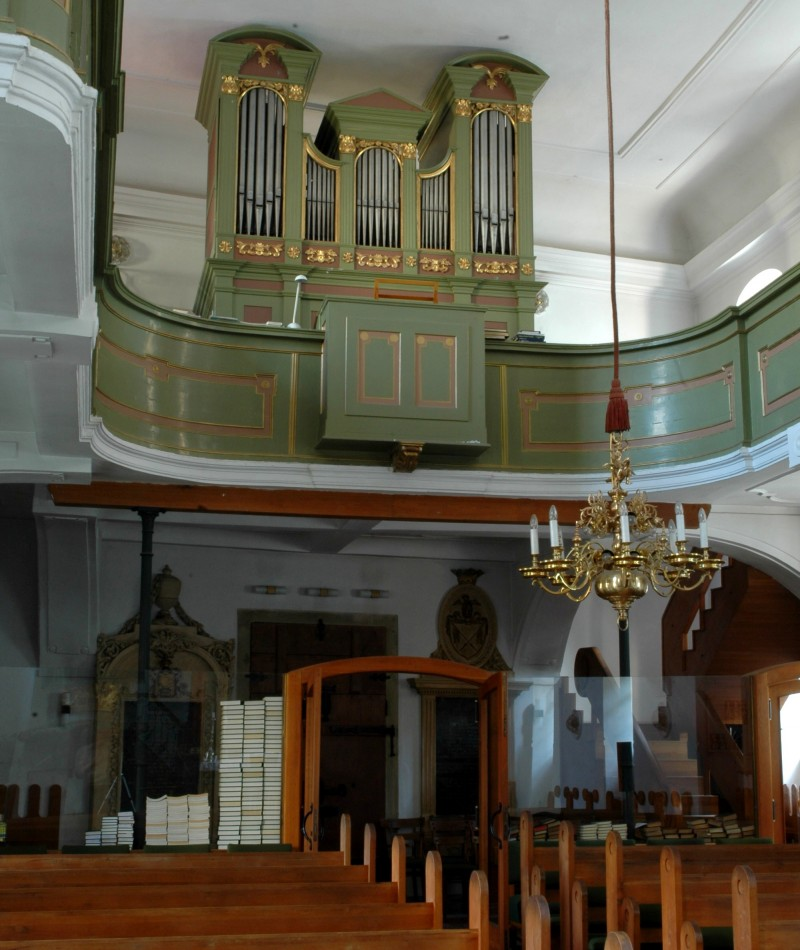 Organ v Malom kostole, Foto: M. A. Mayer