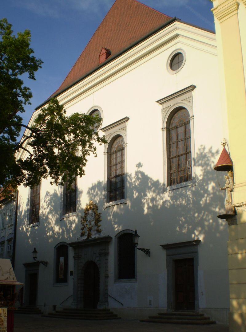 Jezuitský kostol (prvý evanjelický kostol v Bratislave), Foto: Tatiana Horvátová