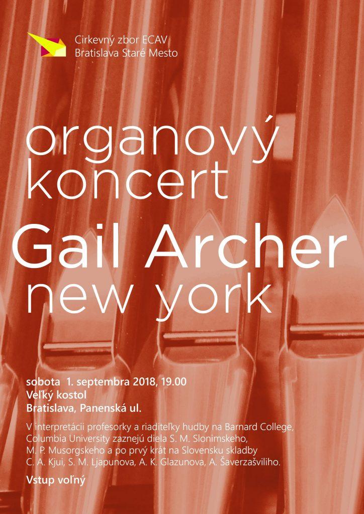 Organový koncert Gail Archer 2018